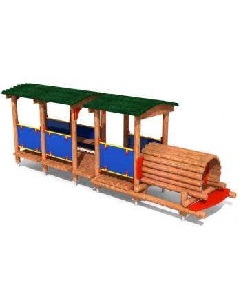 Lokomotywa z wagonem
