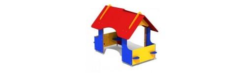Domki, sklepy, altanki, tablice