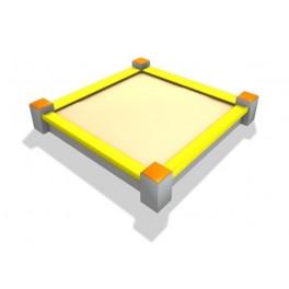 Betonowa piaskownica modułowa kwadratowa.