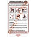 Regulamin boiska sportowego na plexi